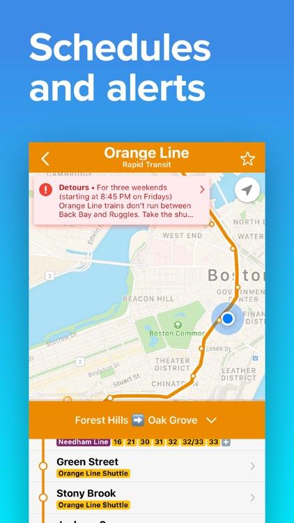 Boston Transit • MBTA T & Bus screenshot-4