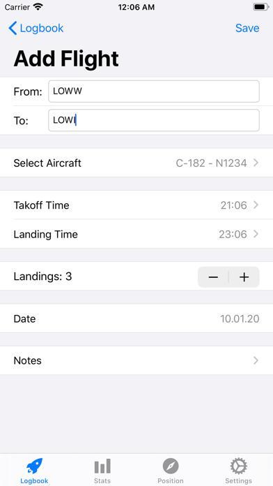 Screenshot #2 pour SkyPilot 2 - Pilot Logbook