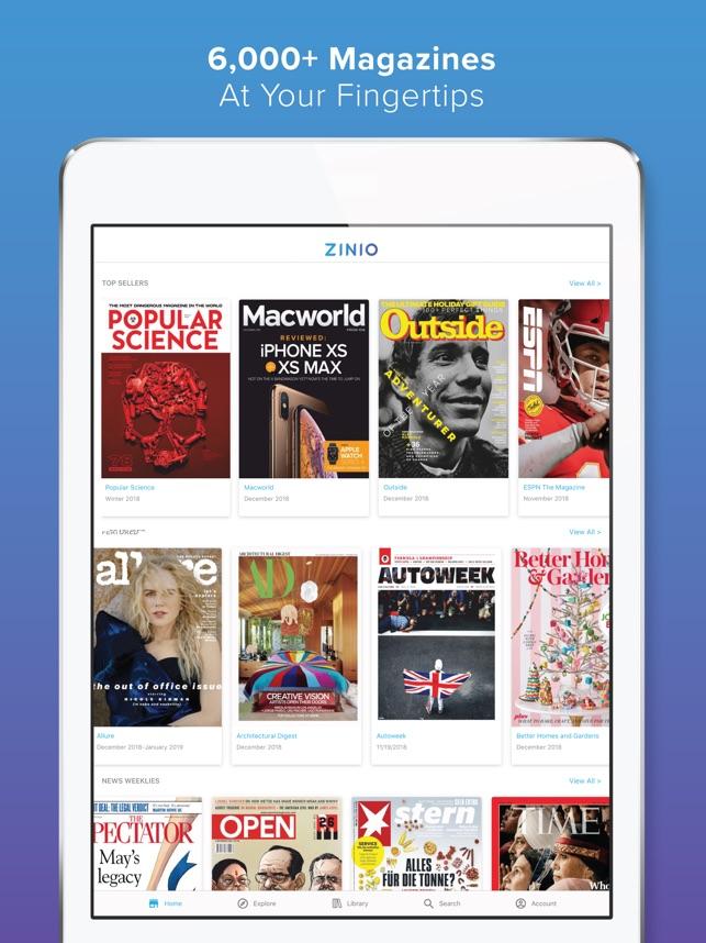 ZINIO - Magazine Newsstand on the App Store