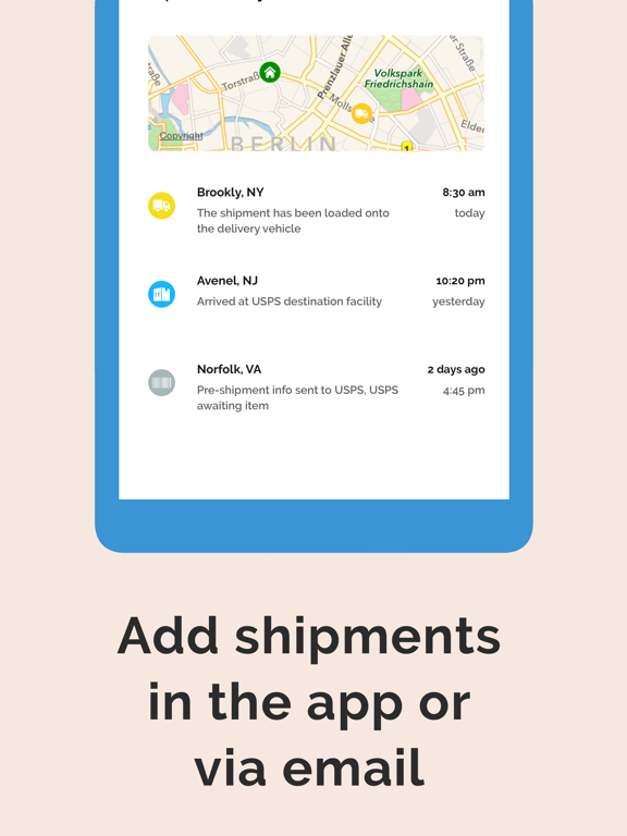ParcelTrack - Delivery Tracking for Fedex, UPS, DHL, USPS, OnTrac, Lasership, Landmark and many more screenshot