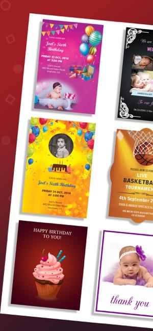 Invitation Maker, Card Creator on the App Store