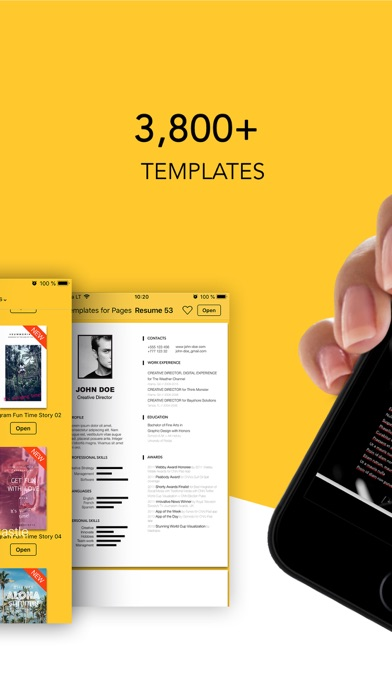 Templates For Pages review screenshots