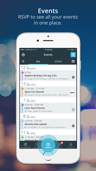 Allcal - A Shared Calendar for Events - online App Chart