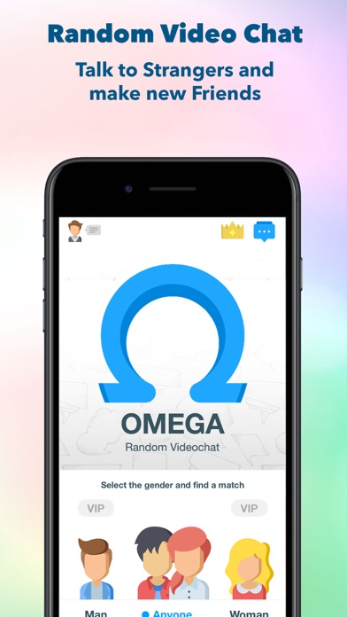 Omega, Random Videochat app image