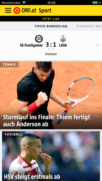 messages.download ORF.at Sport software