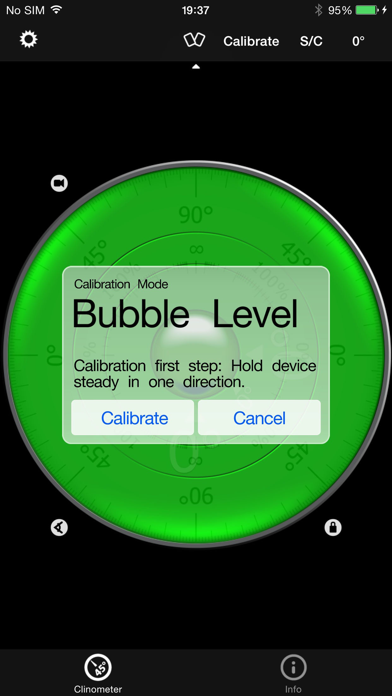 Clinometer + bubble level screenshot four