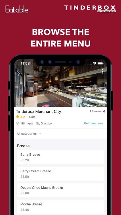 Tinderbox: Mobile Ordering