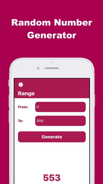 Range: Random Number Generator