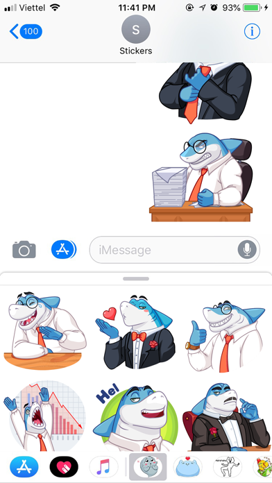 Shark Boss Emoji Stickers screenshot 3