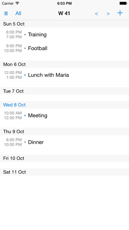 Week View Calendar Premium