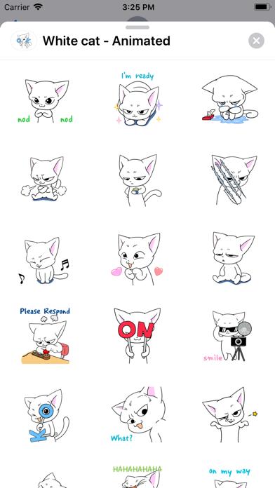 White cat - Animated screenshot 1