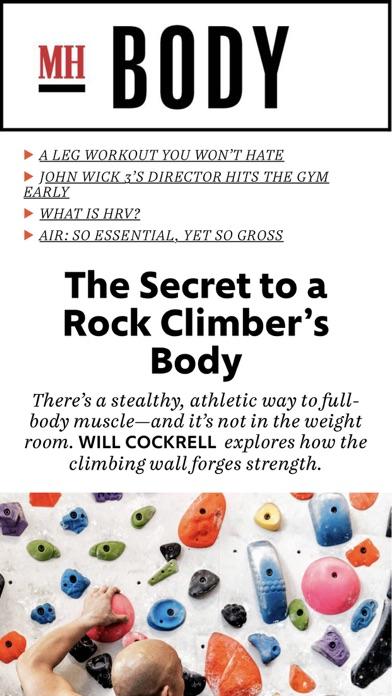 Mens Health Magazine review screenshots
