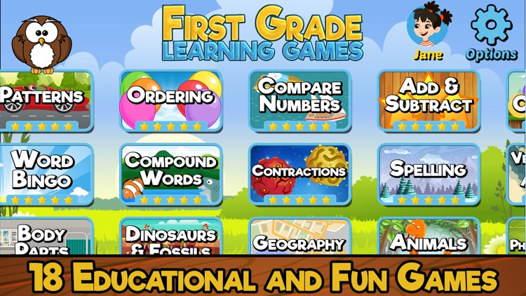 First Grade Learning Games SE screenshot-0