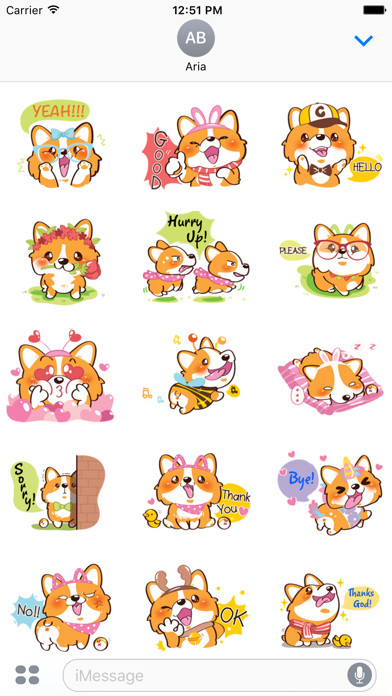 Super Cute Corgi Dog Stickers screenshot 2