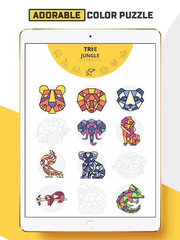 Trio - Polygon Coloring Puzzle screenshot 8