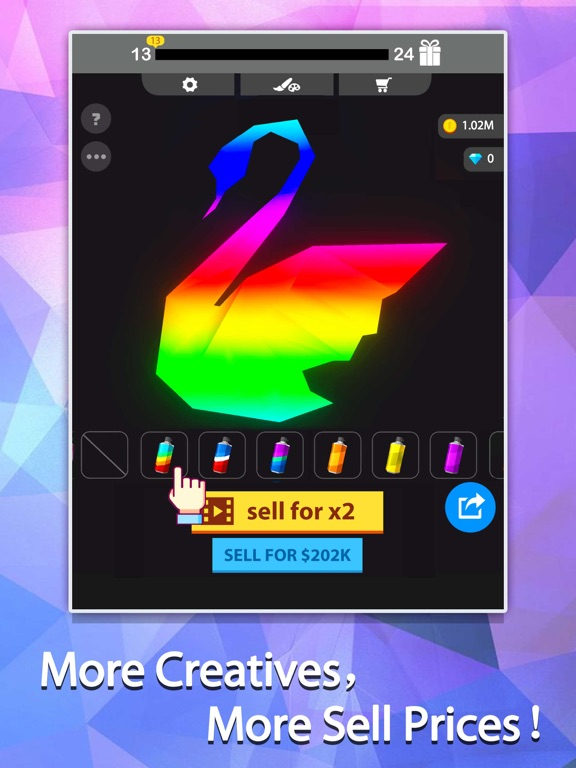 Idle Painter 3D-Low Poly&Tap screenshot 9