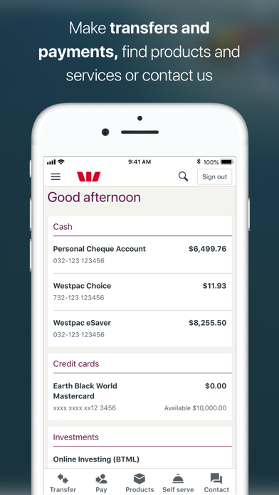 Westpac Mobile Banking screenshot two