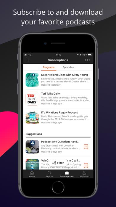 Podcast & Radio - iVoox Screenshot