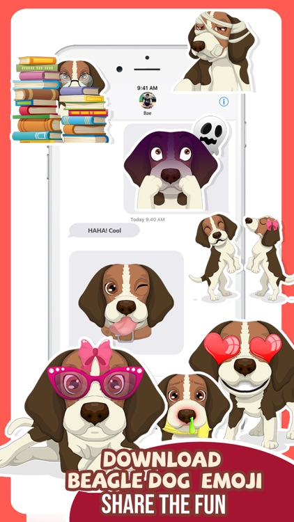 Beagle Dog Emojis Stickers App screenshot-4