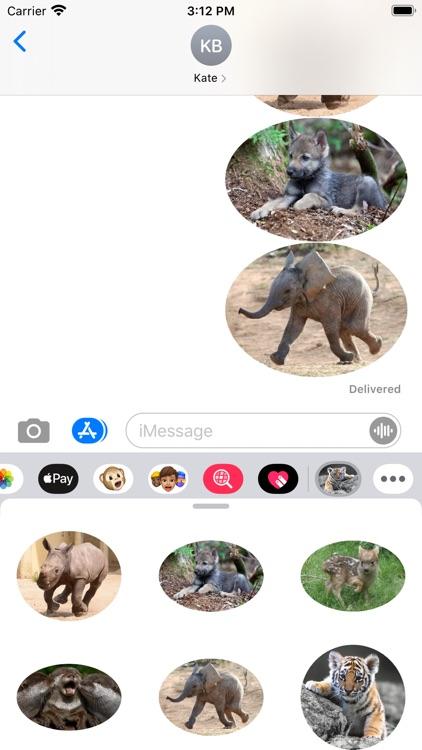 Amazing Animals Stickers Pack screenshot-3