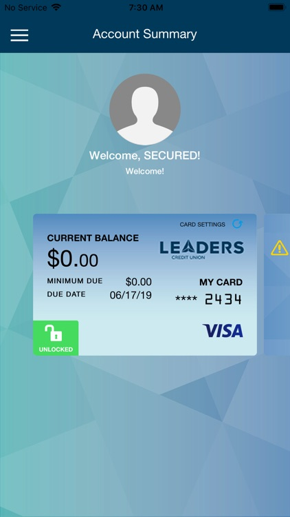 Leaders Card Controls