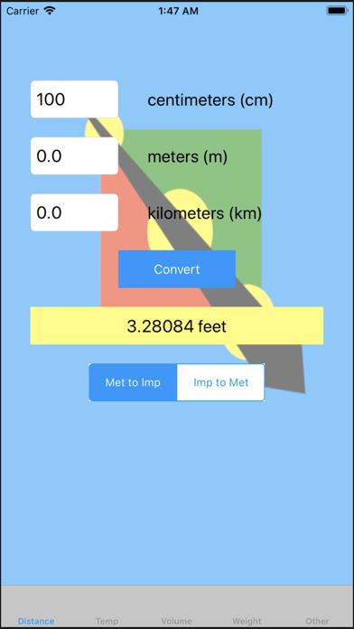 Metric To US Converter screenshot one