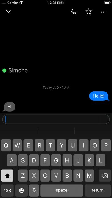 Berkanan Messenger Screenshot on iOS