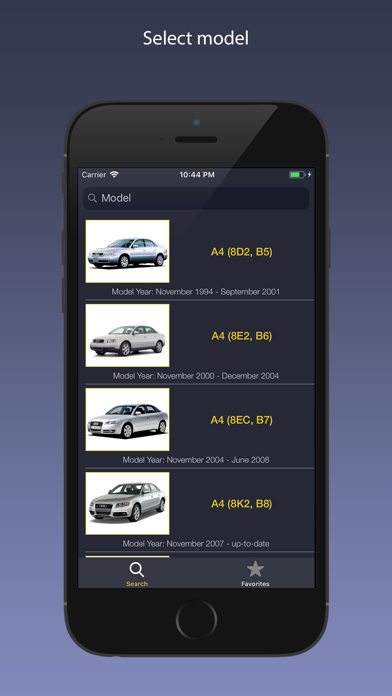 AutoParts for Audi cars Screenshot