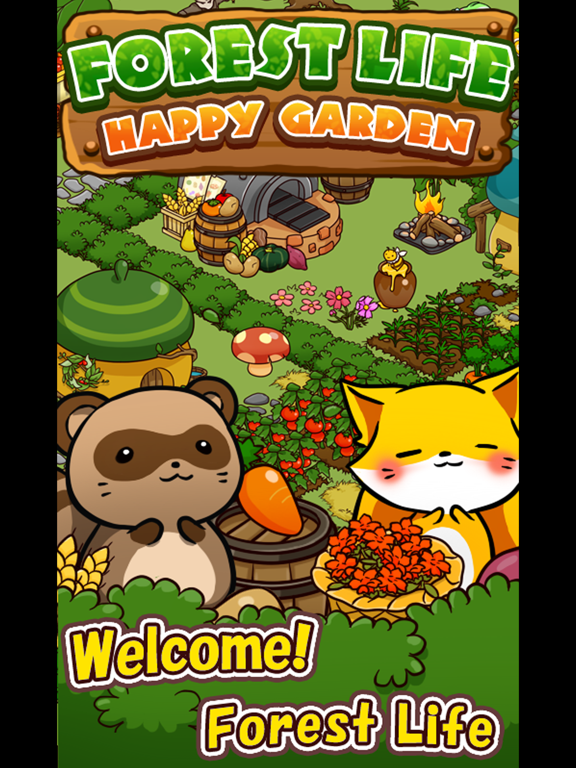 Happy garden of animals