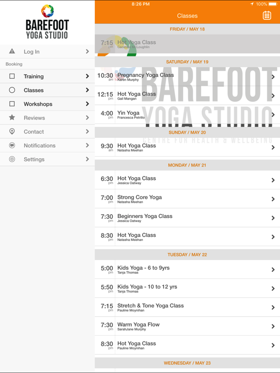 Barefoot Yoga Pilates Lucan screenshot #2