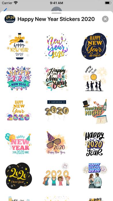 Happy New Year Stickers 2020 screenshot 2
