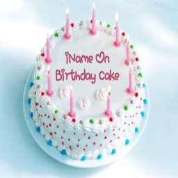 iName On Birthday Cake