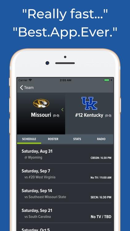Kentucky Football Schedules screenshot-8
