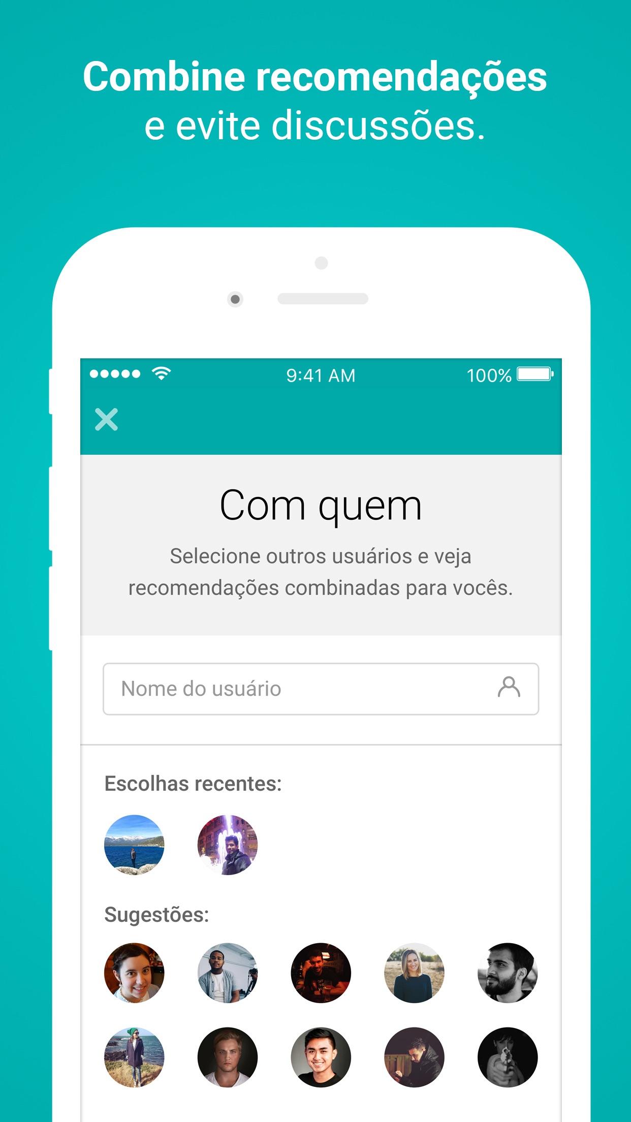 Screenshot do app MateRate - Filmes e Séries