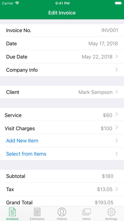 Invoice Maker - Small Business screenshot-1