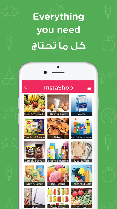 Screenshot for InstaShop: Grocery delivery in Lebanon App Store