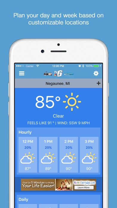 Tv6 and fox up | TV6 & FOX UP Weather App for Android, iOS download