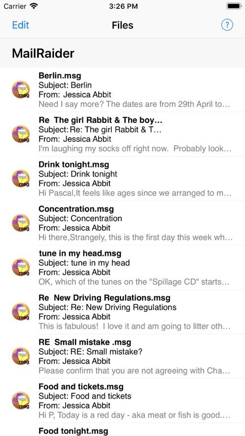 MailRaider App 截图