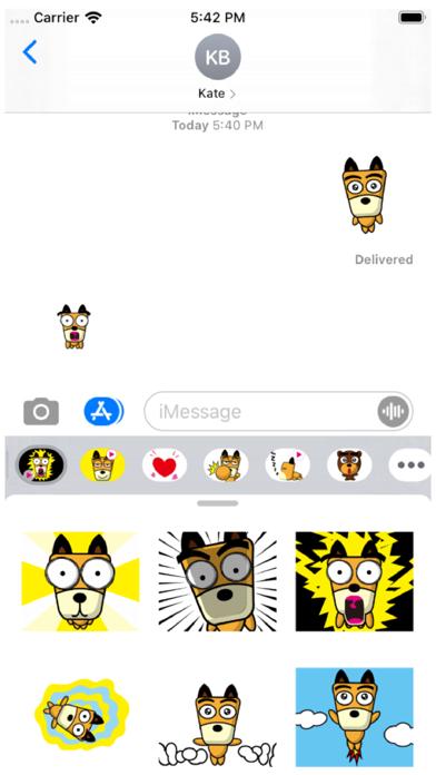TF-Dog Animation 6 Stickers Screenshot