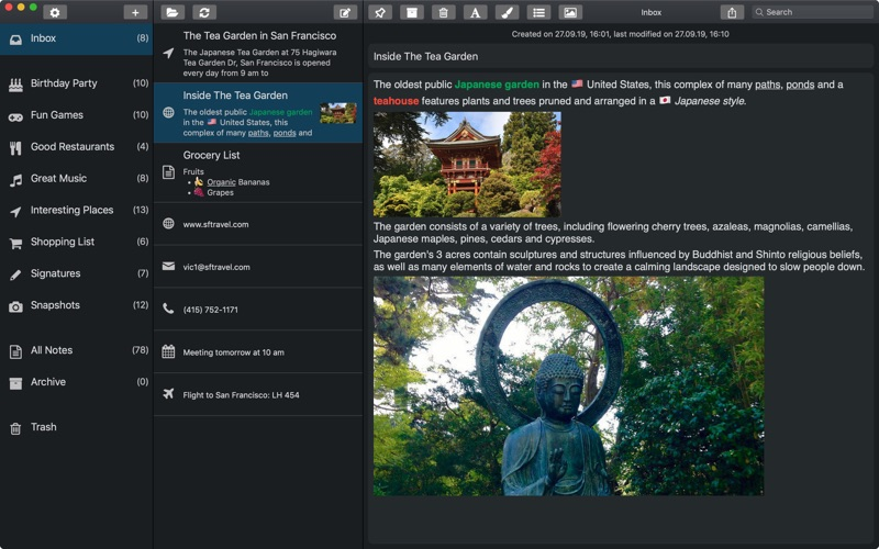 SnipNotes - Clever Notebook for Mac
