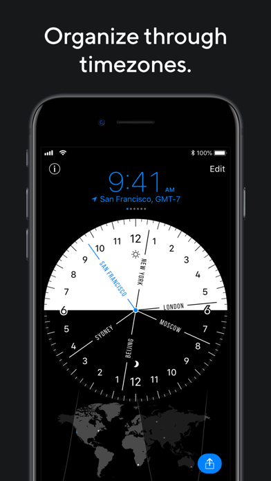 World Clock Pro Mobileのおすすめ画像1