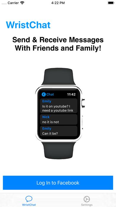 WristChat for Facebook screenshot 2
