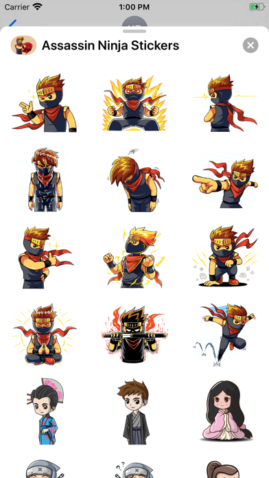 Assassin Ninja Stickers screenshot 1