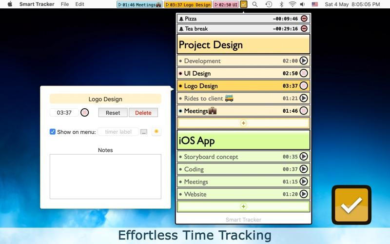Smart Tracker - Time Tracking скриншот программы 1