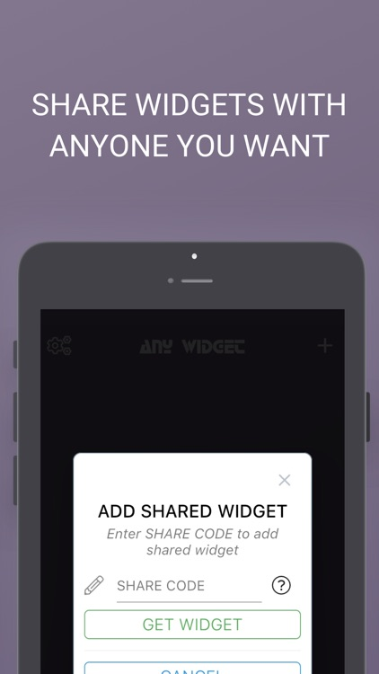 ANY WIDGET - mobile dashboard