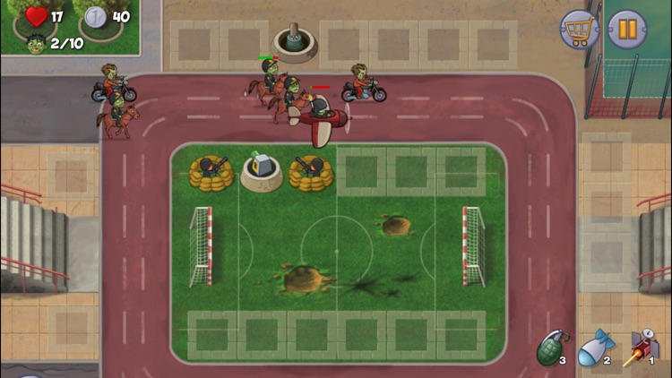 Zombie Town Defense screenshot-2