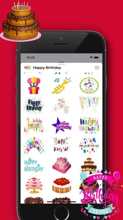 Happy Birthday Sticker - Packs screenshot-3