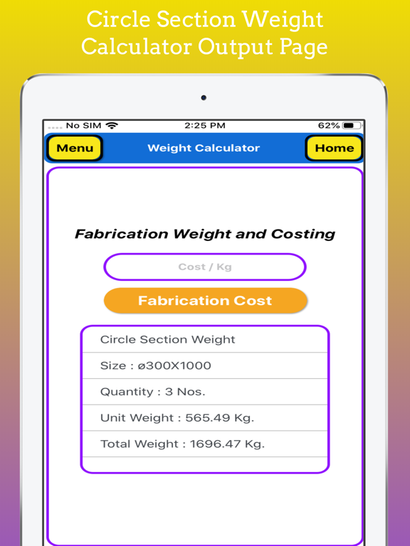 Fabrication Weight Calc Pro screenshot 14