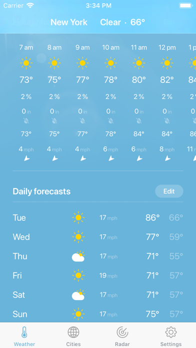 Weather · Screenshot