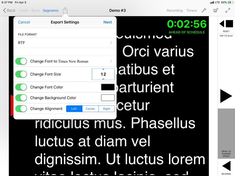 Teleprompter for iPad